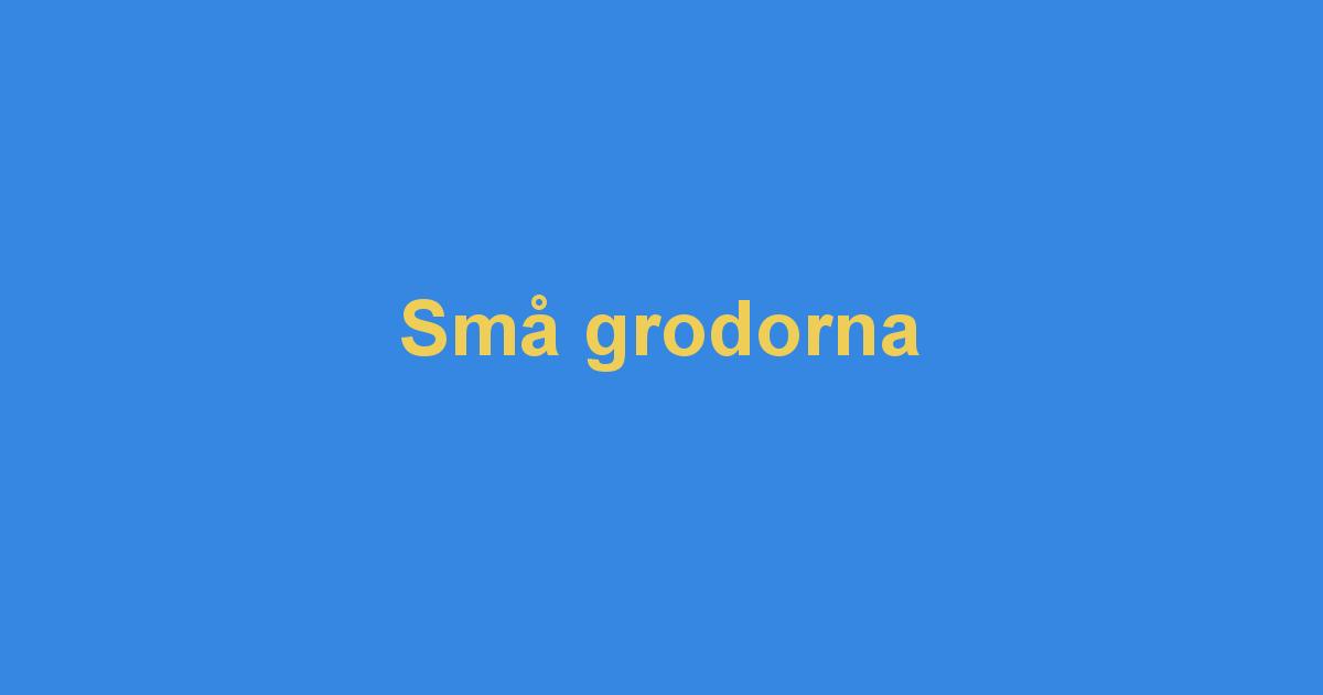 SMÅ GRODORNA TEXT